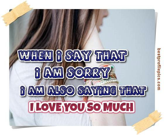 how sorry i am quotes