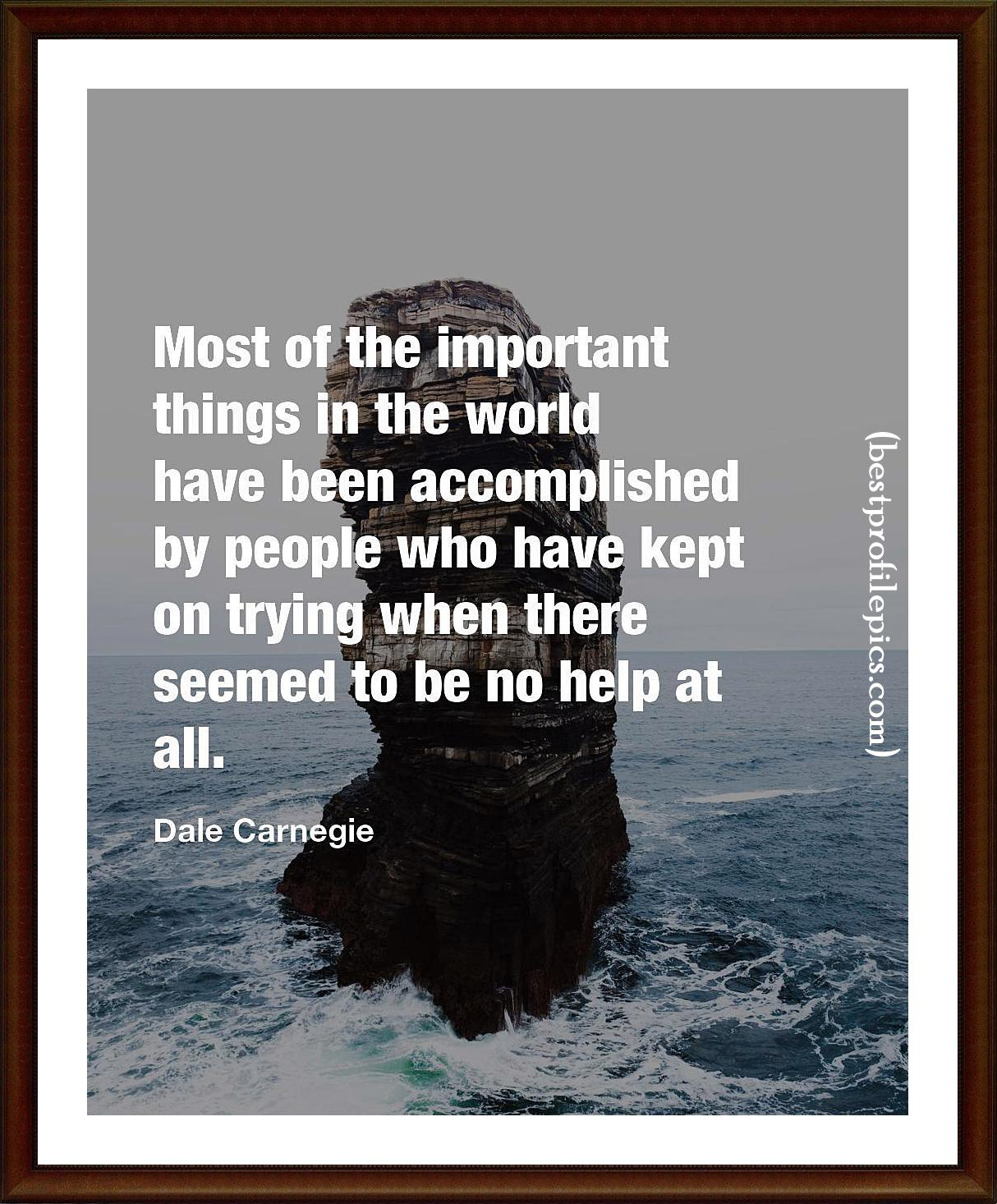 dale carnegie quotes keep trying