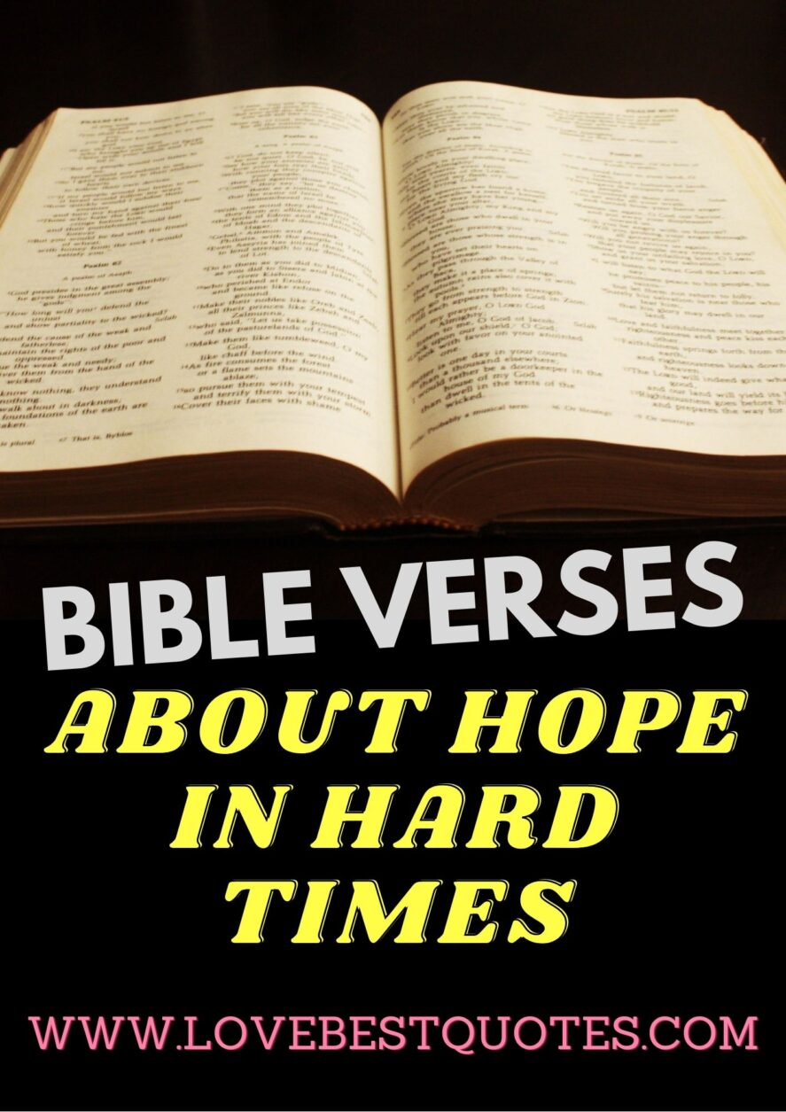 21 best bible verses about hope during hard times