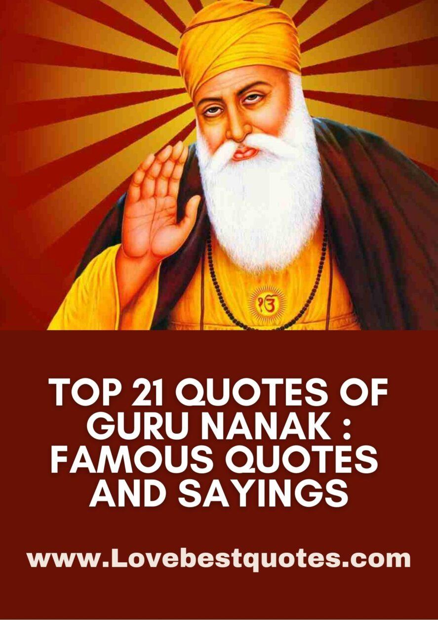 21 Best Guru Nanak Quotes and Sayings