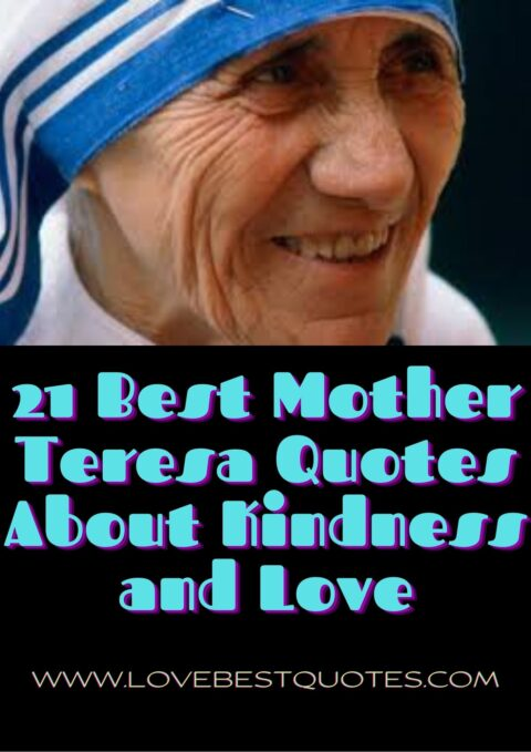 21 best mother teresa quotes on love and kindness