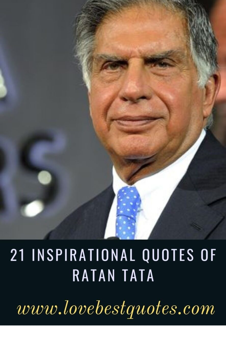 21 Best Inspirational Quotes of Ratan Tata