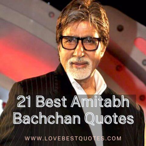 21 Best Amitabh Bachchan Quotes